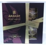 Ararat koňak 20 letý se skleničkou