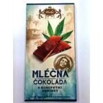 Čokoláda Carla mléčná s konopným semínkem